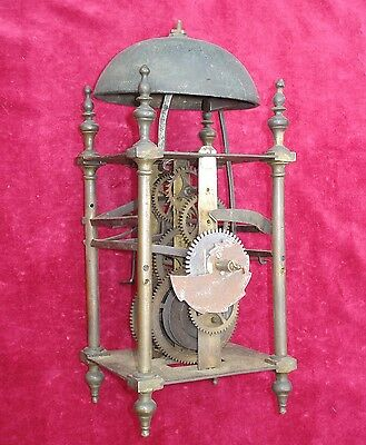Very Unusual 18Th C Rack Strike 8 Day Lantern Clock Movement #3