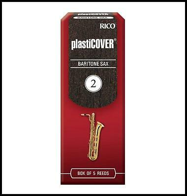 Rico PlastiCOVER Baritone Saxophone Reeds, Strength 2.0, 5-pack  RRP05BSX200