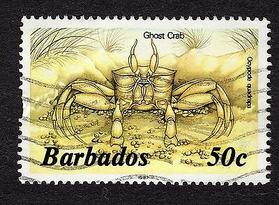 1985 Barbados 50c Ghost crab SG803b GOOD USED R31627