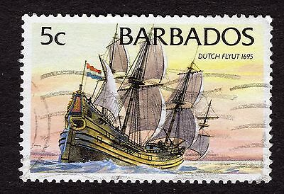 1994 Barbados 5c Dutch Flyut 1695 SG1075 VERY GOOD USED R32333