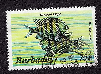 1985 Barbados 75c Sergeant major SG805b FINE USED R31612