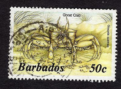 1985 Barbados 50c Ghost crab SG803b FINE USED R31628
