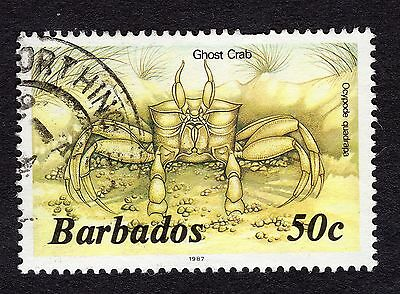 1985 Barbados 50c Ghost crab SG803b FINE USED R31625
