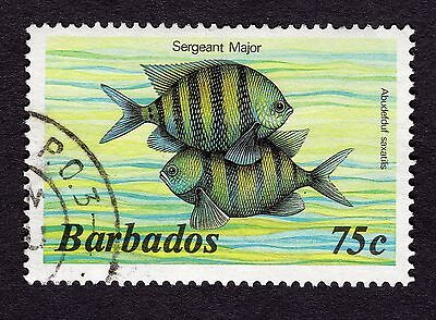 1985 Barbados 75c Sergeant major SG805b FINE USED R31613