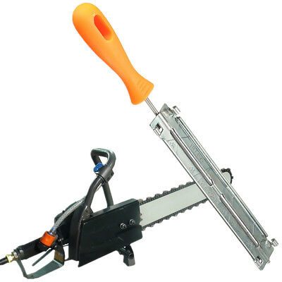 Chainsaw File Holder 4mm Round Chain Sharpener With Plastic Handle For Woodwork