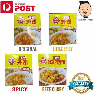 2 X OTTOGI instant 3 BUN beef curry and original, little spicy, spicy
