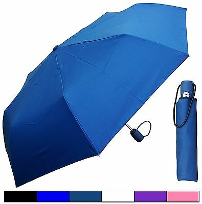 "42"" Stylish Mini Auto-Auto Rain Umbrella - RainStoppers Rain/Sun UV Travel"