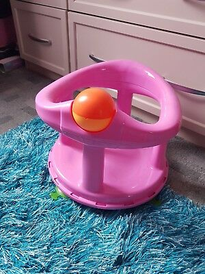 Baby Bath Seat Swivel Pink