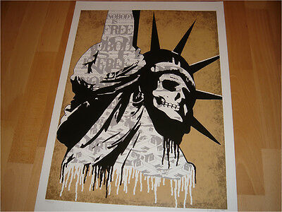 Sinero Print SIGNED dface obey Art anonymous liberty new york Faile invader ⬛️⚠️