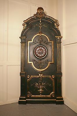 Large Painted French Pharmacy Rocco Panel Clock