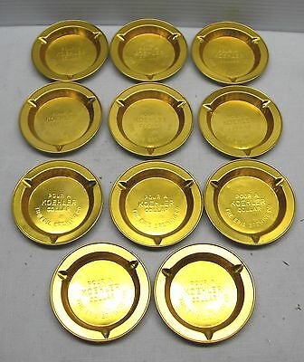 Lot 11 Pour A Koehler Collar Erie Brewing Aluminum Ashtrays Beer Advertisment
