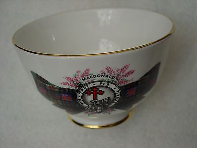 "ROYAL GRAFTON England Bone China Open SUGAR BOWL ""MACDONALD"" Tartan Scotland"