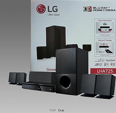 LG LHA725 5.1 3D Blu-ray (1000 Watt, Smart TV, DLNA, Bluetooth, 1080p Upscaling)