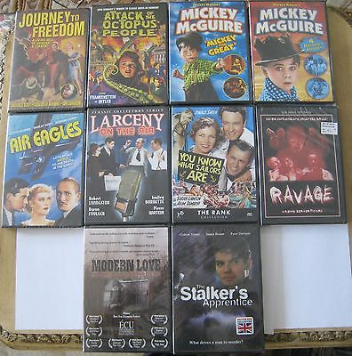 Lot of 10 DVDs Journey To Freedom Air Eagles Ravage Modern Love Brand New