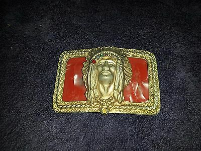 Old Collectible Motorcycle Belt Buckle Needs Repair