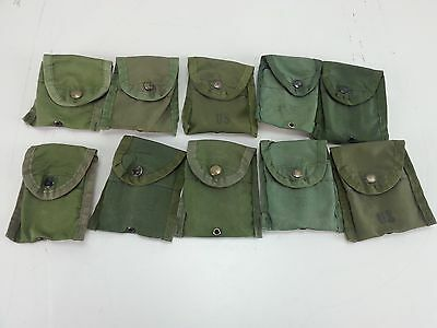 US Military Army First Aid Compass Pouch With Alice Clip Lot of 10