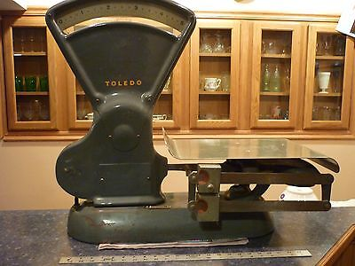 ANTIQUE TOLEDO SCALE Vegetable, butchering, grocery, postal