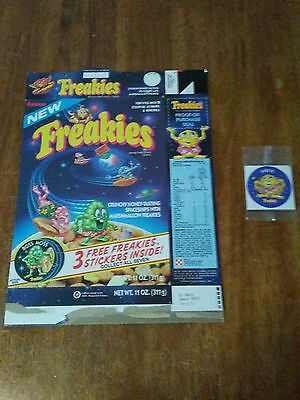 Freakies Cereal Box With Freakies Sticker Included