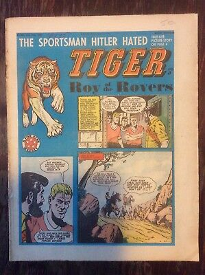 Tiger, featuring Roy of the Rovers. 13 July 1963 RARE