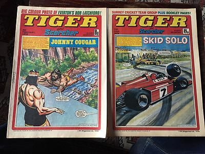 Tiger & Scorcher, featuring Roy of the Rovers. 2 comics, Feb 4th & Jun 10th 1978