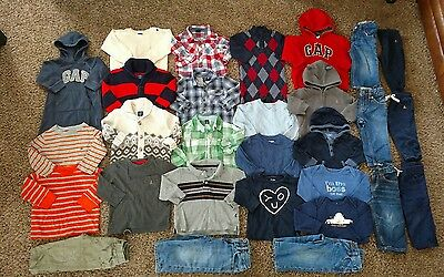 HUGE 29-Pc Baby Gap Boys Clothes Lot Sz 12-18 Mo EUC Sweaters Jeans Shirts Pants