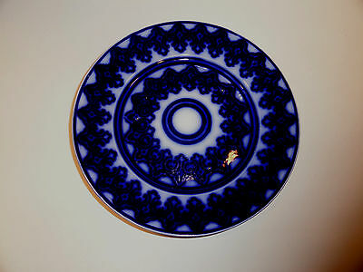 Antique Flow Blue Tunstall England Plate