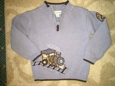 Little Red Caboose Boy's Size 2T Pullover Train Appliqué Sweater