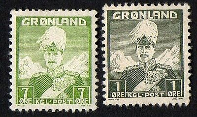 Greenland stamps.  1938 Christian X. MH