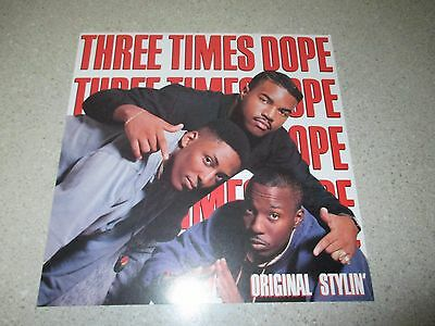 "THREE TIMES DOPE Original Stylin' 1989 PROMO ONLY 12.5"" Poster RARE Rap Hip-Hop"