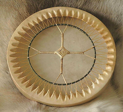 "16"" Shamanic Drum, Reindeer Hide on Ash Hoop - supplied with beater"
