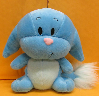"Neopets Kacheek Blue Plush Stuffed Puppy Dog Toy 6"" tall"