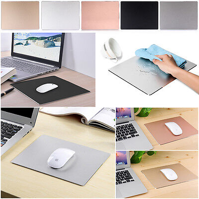 Hard Metal Durable Aluminium Alloy Frosted Surface Mouse Pad Mat Nonslip for PC