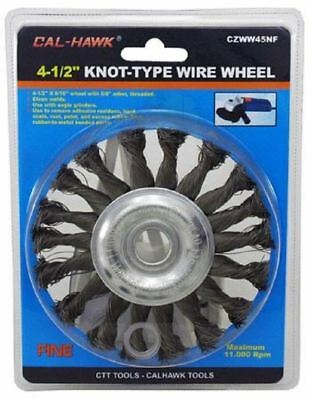 """Cal Hawk 4 1/2"""" Knot Wire Wheel Welding Paint Rust Remover Brush Tool CZWW45NF"""