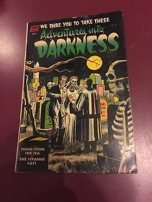 Adventures Into Darkness # 6 Pre Comic Code Horror Nice Copy