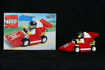 Lego 1477 Red Race Car COMPLETE w/instructions