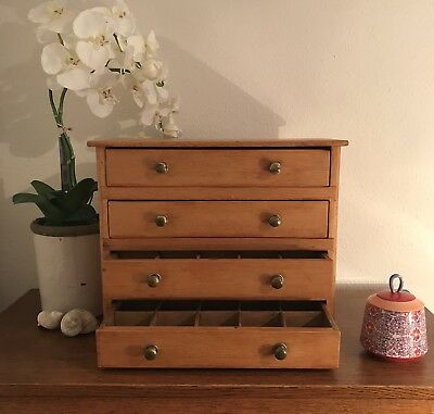 VINTAGE CHEST OF DRAWERS *Miniature* Hardware/Apothecary Storage Collection
