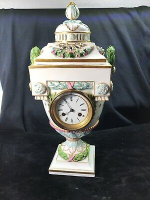 Large 19th century Meissen clock spectacular and unique! make offer!