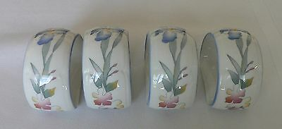 4 Villeroy & Boch Anno 1748 Luxumbourg Napkin Rings - Floral