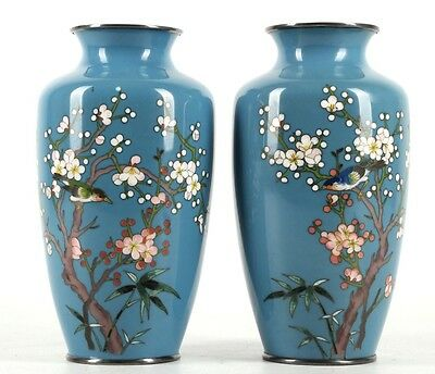 A incredible pair of Japanese cloisonné. Late meiji period. perfect condition