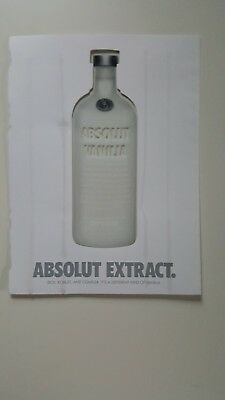 Absolut extract. Vodka Ad