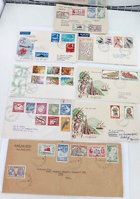 JOB LOT PACIFIC FDC's. 1951 - 1974. PNG, TONGA, FIJI, NAURU.