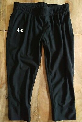 UNDER ARMOUR Girls (YMD/M) Athletic Fitness Yoga Running Cropped Pants - EUC