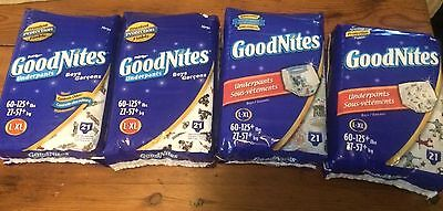 Old Vintage L-XL GoodNites Diapers, 21 in1 pack, Any 4 packages of your choice