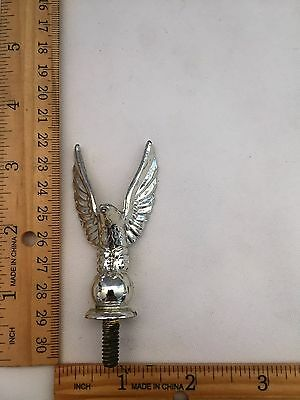 "Eagle Silver Metal Trophy Topper - 3 1/4"" Tall - Top To The End Of The Screw"