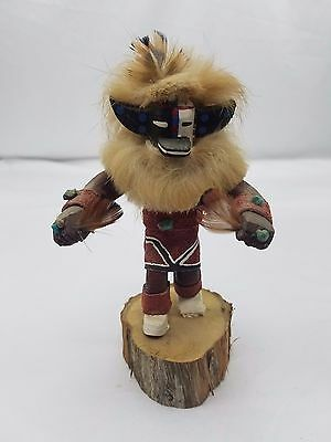 Native American Kachina Doll Signed Phyllis Hallifield Hotate Hand Carve & Paint