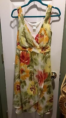Motherhood Maternity Floral Dress Size Large Nwt