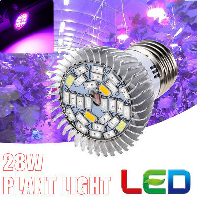 E27 28 Full Spectrum Led Grow Light Growing Lights Bulb Lamp For Flower Plant