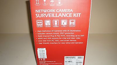 New Hikvision IP Security Dome Cameras Kit 8 Channel NVR DVR HD DS Surveillance