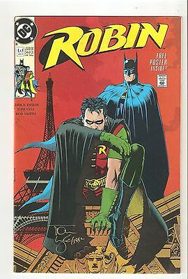Robin 1 (Jan 1991) VF/NM 9.0  signed by artist Tom Lyle in gold ink