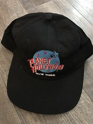 Planet Hollywood New York Baseball Hat Cap Black 1995 Snap Back